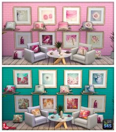 "Lintharas Sims 4: ""Juste Pixx"" Paintings and Cushions   - Part one • Sims 4 Downloads"