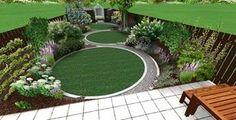 Astonishing Play Garden Design Ideas For Your Kids Ideen für den Vorgarten Circular Garden Design, Circular Lawn, Garden Design Plans, Modern Garden Design, Contemporary Garden, Landscape Design, Small Garden Plans, Modern Design, Garden Design London