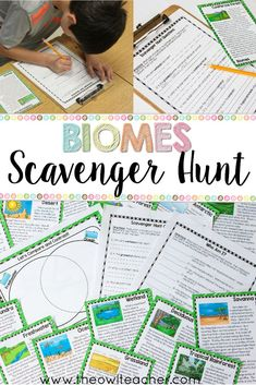 This newest product by The Owl Teacher is a great way to explore ecosystems/biomes. Students move around from card to card seeking the answers to the question sheet, all while reading fun facts about popular biomes/ecosystems! $