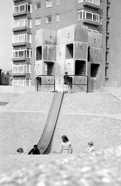 Playground near Brockwell Park, Bedford House Sreatham, London Bedford House, Outdoor Play Structures, Council Estate, Old London, South London, Vintage London, Retro Vintage, Tower Block, Playground Design