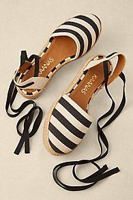 Espadrilles are a HOT summer trend! Our Cape Cod Espadrilles feature regatta stripes to add a chic nautical vibe to your outfit! Pretty Shoes, Cute Shoes, Me Too Shoes, Shoe Wardrobe, Shoe Closet, Shoe Boots, Shoes Sandals, Espadrille Sandals, Heels