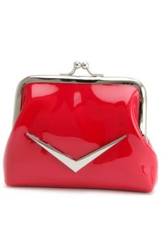 Shiny Red Coin Purse by Lux de Ville   Bags   Shiny Red Coin