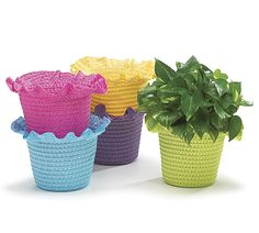 Straw bonnet shaped pot cover with ruffles at the top. Includes hard PVC H X 7 assortments of 10 total pot covers. Chocolate Shoppe, Artisan Chocolate, Burton Burton, Easter Decor, Ruffles, Planter Pots, Bright, Shapes, Spring
