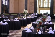 Variety of flower pot centerpieces