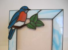 Bluebird Picture Frame by GriffithDesigns on Etsy, $60.00