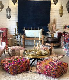 """Kenya & Taib 🖤 Soukie Modern on Instagram: """"High Season is on the way in the desert we are stocking the shop with lots of new goodies... see more of these pretty new floor cushions in…"""""""