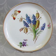 SELTENER Wandteller Meissen Naturalistische Blumenmalerei Schmetterling - TOPP in Antiquitäten & Kunst, Porzellan & Keramik, Porzellan   eBay!
