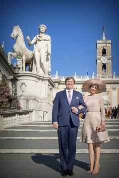21 juni 2017 Koning Willem-Alexander en koningin Maxima brengen op uitnodiging van president Sergio Mattarella een staatsbezoek aan Italië