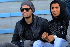 Emilio Mac Eachen y Cristian Palacios en zona de palco oficial.