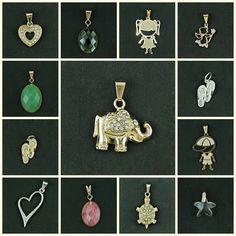 CKD PEDRAS E FOLHEADOS: Pingentes variados no site www.ckdsemijoias.com.br...