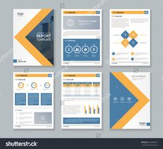 stock vector company profile annual report brochure fl
