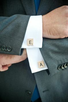 Cufflinks, Silver plated Cufflinks, Scrabble cufflinks, Scrabble letters, YOUR CHOICE, in a gift box