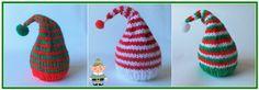 Elf Hat - Chocolate Orange Covers   Cute, Cute, Cute!  Red & White Chocolate Orange ELF HAT Pattern  DK YAR...