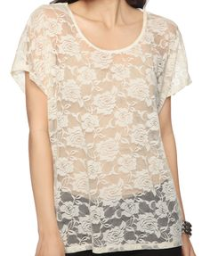 Fab relaxed foral lace top. Forever 21. $11.50