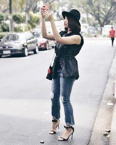 Cassey Cakes -  - Apple Bottom Jeans, Vest with Faux Fur