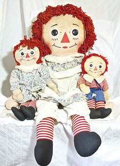 40 inch Knickerbocker Raggedy Ann from The 1960's 3 Dolls Total Andy Estate RARE | eBay