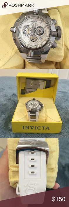 Invicta Men Watch NWT used only ONCE by my husband. Beautiful Invicta watch. Adjustable band. WATER RESISTANT 500m. SUBAQUA NOMA IV. ALL STAINLESS STEEL. FLAME FUSION CRYSTAL. SWISS MADE. Needs new battery Invicta Accessories Watches