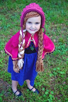 Princess Anna inspired hat with bonnet by AmysCustomCrochet23, $25.00