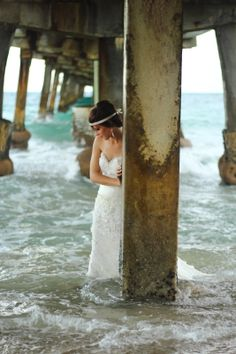 { HALI ROSE PHOTOGRAPHY } - South Florida Wedding Photographer, trash the dress, bride in the ocean