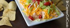 Taco dip. I always have to look this up because I forget the ratios. I usually put the salsa on this dip, but I used this recipe that didn't and liked it better.  It kept things from getting soggy.  (corinne)