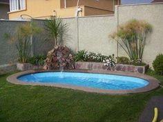 Small Inground Pool, Small Swimming Pools, Small Backyard Pools, Small Pools, Swimming Pools Backyard, Swimming Pool Designs, Backyard Pool Designs, Backyard Landscaping, Small Pool Design