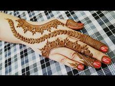 Dubai Henna Design - Step By Step (Tutorial) - ArtsyCraftsyDad Dubai Mehendi Designs, Latest Arabic Mehndi Designs, Wedding Mehndi Designs, Finger Henna Designs, Mehndi Designs For Hands, Henna Tattoo Designs, Mehndi Design Pictures, Mehndi Images, Henna Mehndi
