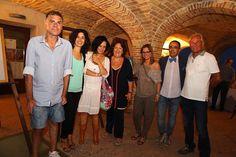 Con il pittore Francesco Colella, Diego Della Valle, Umberto Marconi e le altre pittrici