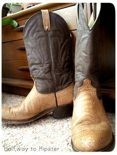 Halfway to Hipster: Cowboy Boot Refashion
