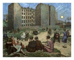 Noche de Verano 1928, Berlin, by Hans Baluschek (German, 1870–1935)...Berlinische Galerie-Hans Baluschek