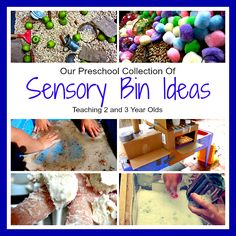 Teaching 2 and 3 Year Olds: Sensory Activities