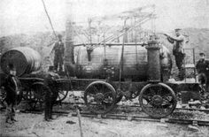 """Rocet Stephenson's """"Rocket"""" the world's first train, constructed in 1829"""