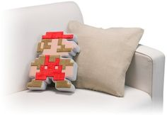 Dot Mario Cushion - man cave or game room