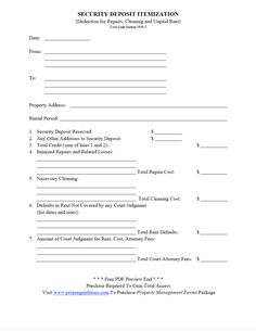 This free printable security deposit return letter is from a security deposit itemization pdf thecheapjerseys Image collections
