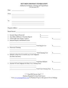 This free printable security deposit return letter is from a security deposit itemization pdf altavistaventures Images