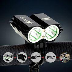 Wasserdichte 5000 Lumen 2x XML U2 LED Radfahren Fahrrad-licht-lampe Scheinwerfer Scheinwerfer + 6400 mAh Akku + ladegerät