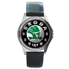 Leatherband Skoda auto Logo Watch by hwandikaiko on Etsy