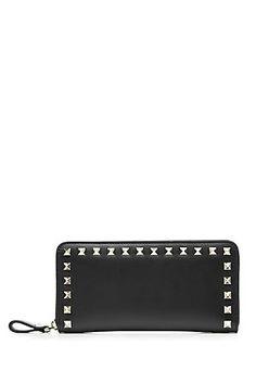 VALENTINO Rockstud Leather Wallet | STYLEBOP.com