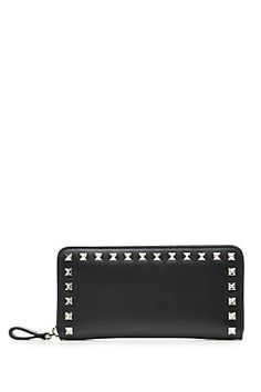 VALENTINO Rockstud Leather Wallet | STYLEBOP.com