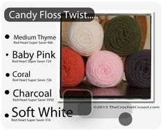 Red Heart Super Saver Color Mix: Candy Floss Twist