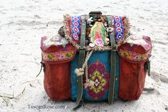 Bohemian gypsy bag on RamblingRose.typepad.com.