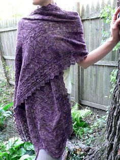 Anne Hanson Design: Autumn Arbor Stole for Lace Weight Yarn Knitting Designs, Knitting Patterns, Weaving Patterns, Anne Hanson, Knitted Shawls, Knit Blankets, Lace Knitting, Shawls And Wraps, Scarves