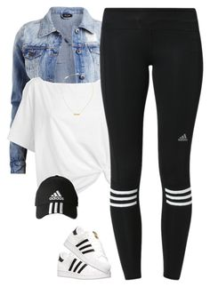 """""""Adidas*"""" by thatchickcrazy ❤ liked on Polyvore featuring VILA, Red Herring, adidas and Yves Saint Laurent"""