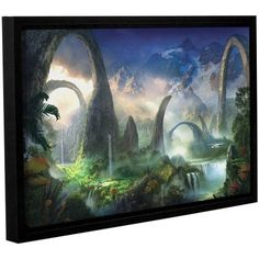 ArtWall Philip Straub Great North Road Gallery-wrapped Floater-framed Canvas, Size: 24 x 36, Green