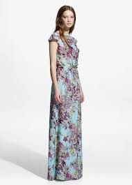 Resultado de imagen de vestido raso fucsia flores