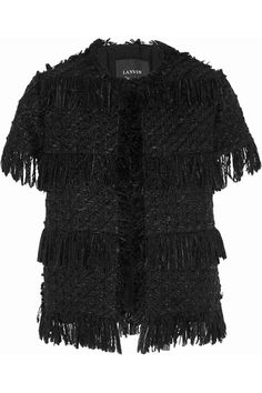 Lanvin | Fringed wool-blend tweed jacket | NET-A-PORTER.COM