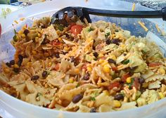 Southwest Pasta Salad You Can Get The #Recipe Here: http://newmodernrecipes.blogspot.ca/