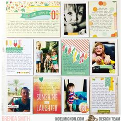 NoelMignon.com Layouts and Projects.  Brenda Smith using the Pool Party Daily Diary kit.
