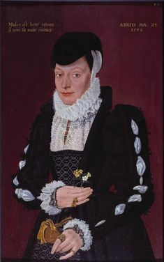 British School 16th century, 'Portrait of a Lady' aged 29, dated 1576