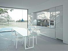 Cozinha linear de folheado de madeira ONE - ERNESTOMEDA