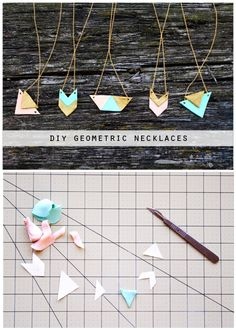 DIY Geometric Necklaces | The Lovely Drawer